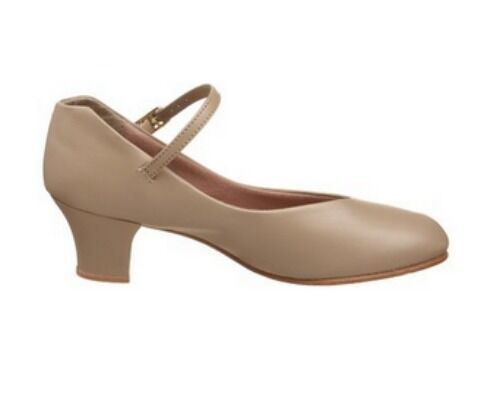 Capezio 550 Tan Women's Size 4M (Fits 1.5) Leather Jr. Footlight Character Shoe