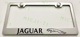 Jaguar With Logo Stainless Steel License Plate Frame Holder Rust Free - $12.99