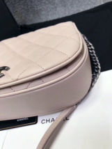 AUTHENTIC CHANEL 2017 PINK QUILTED CAVIAR 2 WAY FLAP BAG NEW image 15