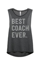 Thread Tank Best Coach Ever Women's Sleeveless Muscle Tank Top Tee Charc... - $24.99+