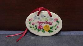"1995 Longaberger ""Happy Easter"" Basket TIE-ON - $7.99"