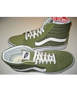 Vans Womens Sk8-Hi Winter Moss Green White Canvas Suede Skate Shoes Size... - $64.34