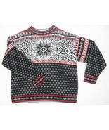 Hanna Andersson Fair Isle Nordic Snowflake Holiday Winter Cotton Sweater... - $27.09