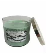 Bath & Body Works Slatkin Scented Candle Mint Chocolate 3 Wicks 14.5 oz. New - $40.59
