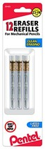 Pentel Refill Eraser for Mechanical Pencils, 3 Tubes per pack, 4 erasers... - $5.69