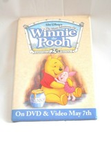 Winnie the Pooh Disney Pin Back 25th Anniversary Video Store Promotional... - $14.84