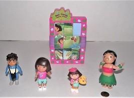 Lot of 5 Dora The Explorer Dollhouse PVC Figures, Diego, Dora & Slide Pu... - $7.91