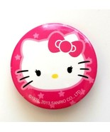 "2013 Sanrio Hello Kitty Button Pin 1.25"" Round Metal Pink White...  - $7.72"