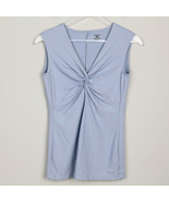 Patagonia Womens Sleeveless Shirt Gray Blue Gathered Outdoor Hiking Camp... - $18.80