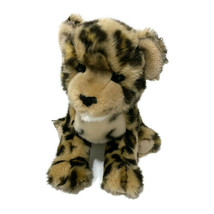 "Douglas Cuddle Toy Leopard Cub Plush 15"" Realistic Tan Black Spotted Jun... - $18.70"