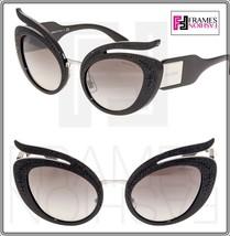 Miu Miu La Folie 04T Black Crystal Silver Gradient Oversized Sunglasses MU04TS - $311.85