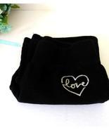 Girls Okie Dokie Black Heart Love Stretchy pants-L6 size-Cotton polyeste... - $9.00
