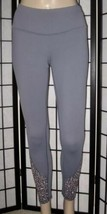 Victoria's Secret Sport Knockout Tight Gray Leopard Mesh Cut Out Leggings XL image 2