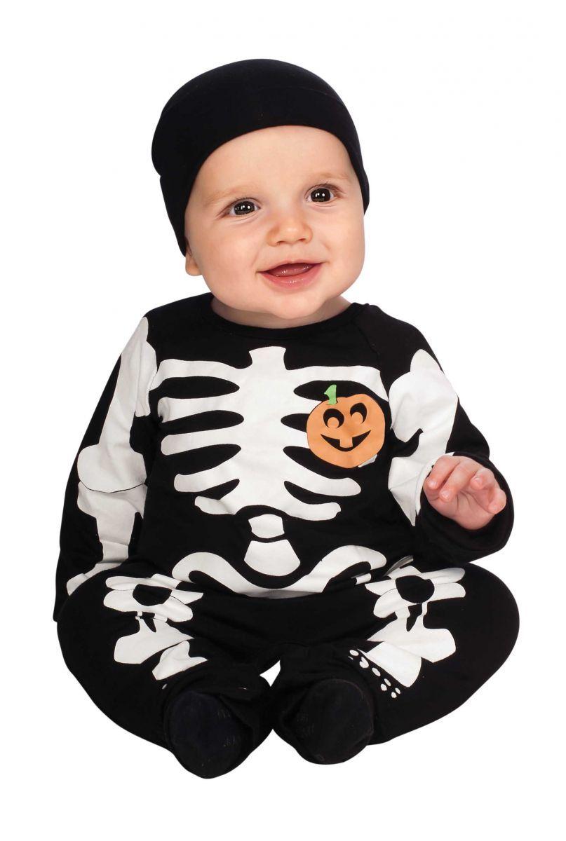 Babys Black Skeleton Halloween Costume