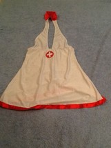 Sexy Nurse Halter Costume Lingerie Sz Small Stretchy By Dreamgirl - $27.71