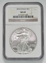 2010 American Silver Eagle NGC MS69 Coin - $61.66