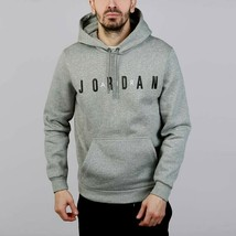Nike Men's Jordan Flight Fleece Hoodie  NEW AUTHENTIC Grey AH4509-063  - $49.49