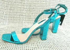 "Forever 21 Metallic Blue Green Platform 4"" Strap Heel Pumps Size 9 ~ Nwt - $20.26"