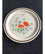 "Haniwa Stoneware - Maywood 3401 Poppy Flowers Serving Chopping Plate 12""... - $19.30"