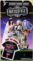 Men's Beetle Juice Funko Home Video VHS Boxed Short Sleeve Tee Exclusive NIB