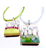 Handmade Scrabble Tile Art Necklace, (1) Handcrafted Jewelry Accessory  - $24.99