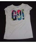 GAP Fit Dry White Multi-color GO! T-Shirt Sz XXL NWOT - $10.88
