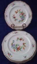 Vintage Alfred Meakin Marigold Astoria Shape Gold Trim 4 Dessert Plates ... - $29.92