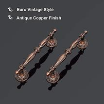 12pack Antique Copper Cabinet Hardware Pulls 3 1/2inch 90mm Hole Centers Vintage image 5