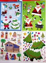 Christmas Reusable Window Clings ~ ( 4 Pack ) - $12.17