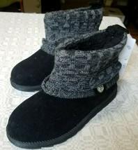 Muk Luks Women's Patti Cable Cuff Boot, Color 011-Black Grey Style 16626, Size 8 - $36.76