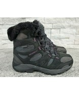 Merrell Air Cushioned Waterproof Black & Purple High-Top Hiking Boots Wo... - $42.08