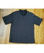 NIKE GOLF Dri-Fit Mens Short Sleeve Polo Shirt Black White Red Size Large - $14.50