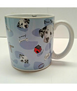 Disney Bow Wow Dalmations oversized 16 oz coffee mug Blue Bones Dog House - $12.00