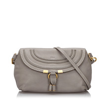 Pre-Loved Chloe Gray Others Leather Small Marcie Crossbody Bag France - $433.84