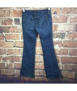 Gap Womens Jeans Ultra Low Rise Size 6 Boot Cut Dark Wash 33 Inseam #213 - $17.81