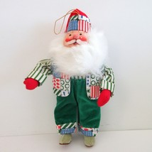 Santa Christmas Hanging Ornament or Standing Stuffed Figure 9 inch tall - $9.90