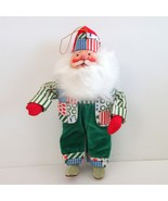 Santa Christmas Hanging Ornament or Standing Stuffed Figure 9 inch tall - $8.42