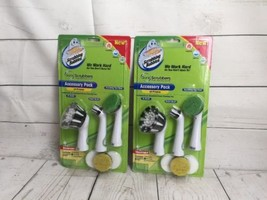 Scrubbing Bubbles Sonic Scrubbers Accessory Pack XL Brush Detail Brush Lot of 2 - $11.39