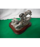 DD Edwards Legends Fine Pewter Sculpture Double Trouble Rams 1026/2500 - $193.05