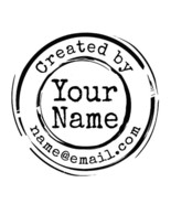 custom name round frame created by personalized pre ink self inking stam... - $7.91
