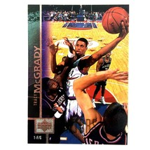 Tracy McGrady Rookie Card 1997-98 Upper Deck #300 Green Border Variation Raptors - $29.65