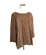 Karen Scott Mocha Brown Polka Dot Sweater Sz XL - $21.99