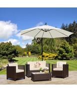 Outdoor Rattan Wicker Sofa Garden Coffee Seating Armchairs Set Cushioned... - $415.46