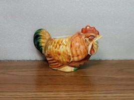 Vintage Primative Rustic Red Rooster Creamer Made in Japan - flawed  - $13.27