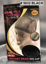 QFITT MAKE YOUR OWN WIG CROCET MICRO CROCHET BRAID WIG CAP # 5032 BLACK