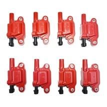 GM Pontiac Chevy Red Ignition Coil LS LSX LS1 LS2 LS3 LS6 LS7 Pack of 8