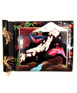 Photo Album Vintage Asian Japan Black Lacquer Abalone Inlay Wood 11 x 8 ... - $34.64