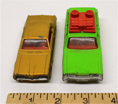 Vintage Lesney Matchbox Mercury Commuter K-23 + Mercury Cougar K-21 Die ... - $32.68