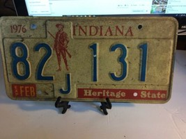 Vintage Indiana License Plate -  - Single Plate  1976 image 2