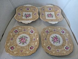 Royal Albert Devonshire Lace Candy Dish Dessert Plate Handled LOT of 4 - $38.52
